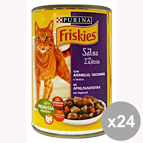 Set 24 FRISKIES 400 Gr. Umido Bocconcini Tacchino-Agnello-Verdure Cibo per gatti