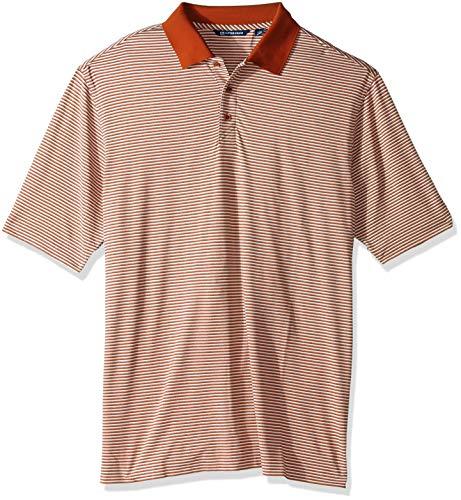 Cutter & Buck Men's Big and Tall Moisture Wicking Drytec UPF 50 Forge Tonal Stripe Polo Shirt - Cutter Buck Golf-bekleidung