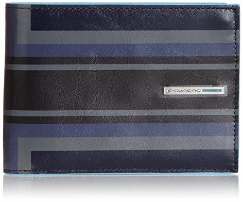 Piquadro Blue Square Portafoglio, Pelle Blu, 12.0 cm