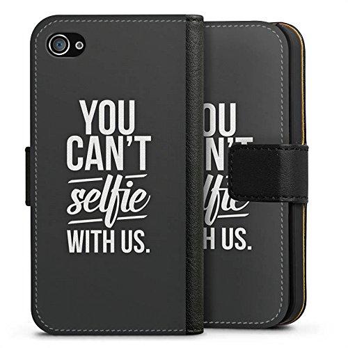 Apple iPhone X Silikon Hülle Case Schutzhülle Sprüche Selfie Schwarz Sideflip Tasche schwarz
