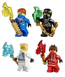 LEGO® Ninjago (TM) Ninja's set of 4 - Cole, Jay, Kai, Zane Techno Robe minifigures (Each with Techno Blade)