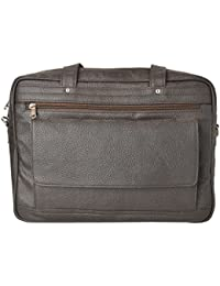 R.K. Leather Point Dark Brown Synthetic Leather Laptop Bag