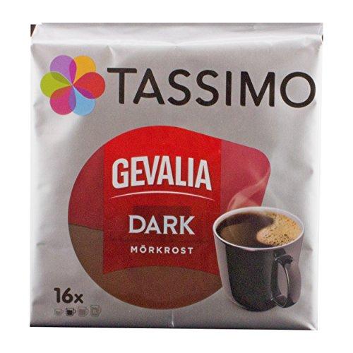 Tassimo Gevalia Dark, Kaffee, Arabica, Kaffeekapsel, gemahlener Röstkaffee, 16 T-Discs (T-discs Kaffee Gevalia)