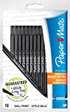 Paper Mate White Bros Ball Pen Medium Tip 1.0mm - Black (Pack of 10)
