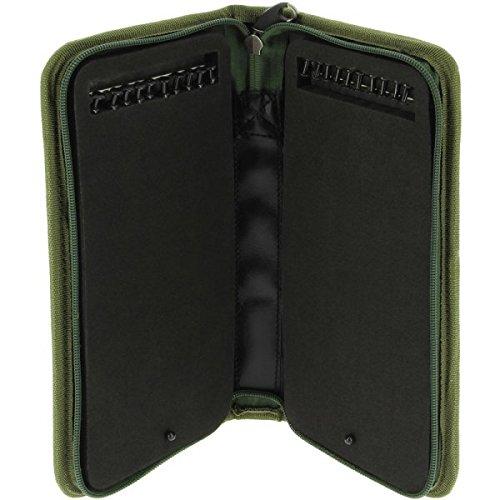 NGT Unisex FLA steif Angeln Rig Wallet mit Pins (940), grün, 29x 14x 4cm