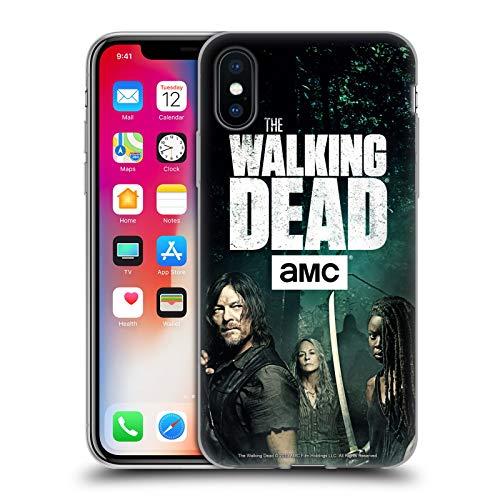 Head Case Designs Offizielle AMC The Walking Dead Daryl, Carol & Michonne Staffel 9 Zitate Soft Gel Hülle für iPhone X/iPhone XS