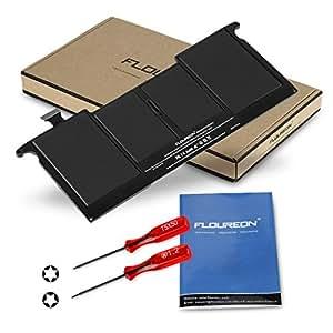 """FLOUREON Remplacement Batterie pour Apple A1375 MacBook Air 11"""" (A1370 Late 2010) Compatible avec MC505LL/A MC505B/A [Cobaltate-Li-Polymer 5200mAh/38Wh]"""
