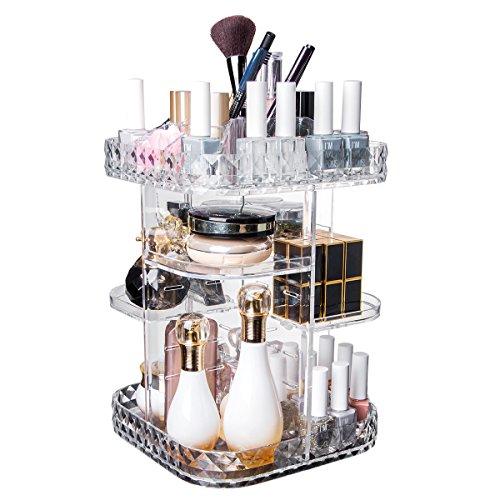 Makeup Kosmetik Organizer Schubladen   360° Drehbarer Schrank mit Regalen   Acryl Organizer für...