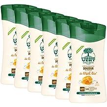 L'arbre vert Bien-être Crème Douche Miel aux Extraits de Miel Bio - Pack de 6