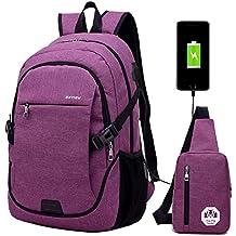 Mochila escolar mochila portátil bolsa de viaje bolsa de viaje para hombre con puerto de carga