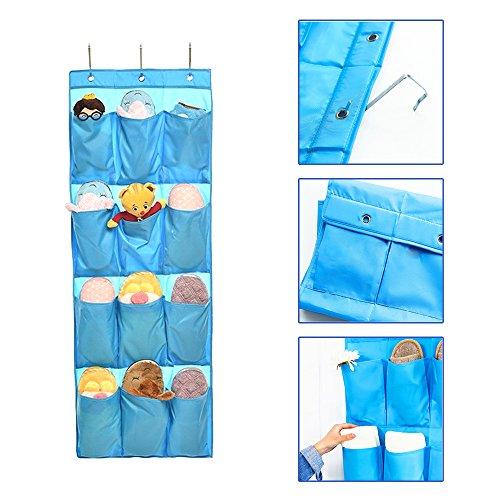 Preisvergleich Produktbild Hanging Organizer, Stoga Über der Tür Schuh Lagerung Organizer mit 12 Oxford Hosentasche-Blau