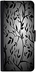 Snoogg Black Trees Seamless Vector Wallpaper Graphic Snap On Hard Back Leathe...