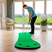 FORB Home Golf Putting Mats [2 Sizes] – Professional Indoor Putting Practice (3 Holes)