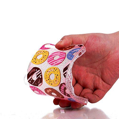 CaseHome iPhone 7 Plus 5.5'' Weich Hülle Gummi Stoßfestes Skidproof Ultra dünn TPU Silikongel Profect Schutz (Mit Freiem HD Schirmschutz) Für Apple iPhone 7 Plus 5.5'' Hülle Shell Stilvoll Elegant Sch Donuts