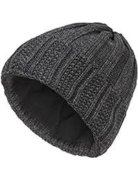 Gwinner Strickmütze warme und dicke Wintermütze ideal für kalte Tage R4