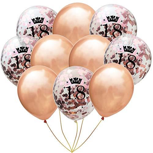 Longra 10Pcs Luftballons Konfetti Ballon Latex Ballons für Halloween, Weihnachten, Geburtstagsfeiern, Party, Hochzeitsfeiern usw
