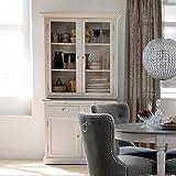 Pharao24 Küchenbuffet in Weiß Grau aus Kiefer Landhaus