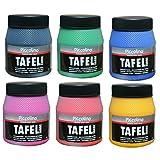 PICCOLINO Tafelfarben Set 6 Farben à 250ml - Tafellack Gelb