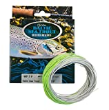 Mountain River Baltic Sea Trout Fliegenschnur, Chartreuse/Hellgrau, One Size