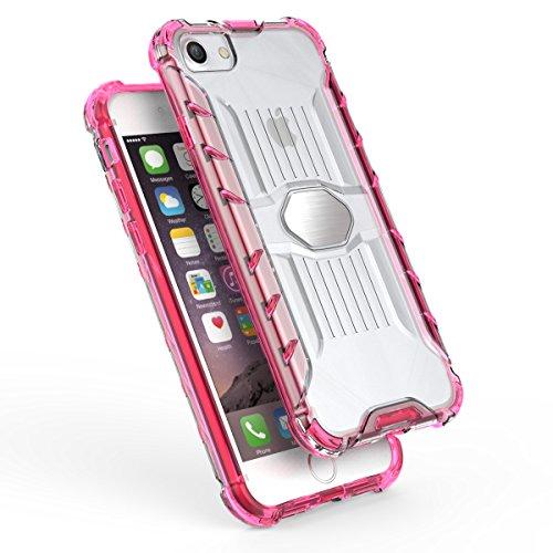 iPhone 7 4.7 Hülle, Voguecase Transparent Schutzhülle / Case / Cover / Hülle / 2 in 1 TPU + PC für magnetischen Auto Mount Gel Skin für Apple iPhone 7 4.7 (Schwarz)+ Gratis Universal Eingabestift Orange