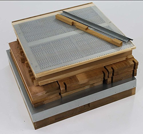 National Cedar Bee Hive Starter hive with frames and wax by Easipet