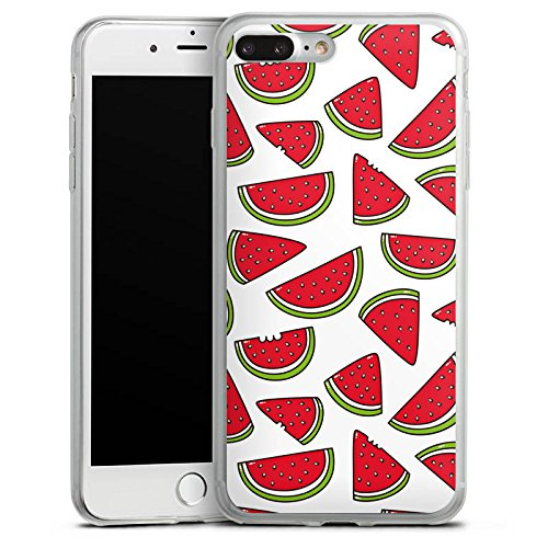 Apple iPhone 8 Slim Case Silikon Hülle Schutzhülle Melone Sommer Essen Silikon Slim Case transparent
