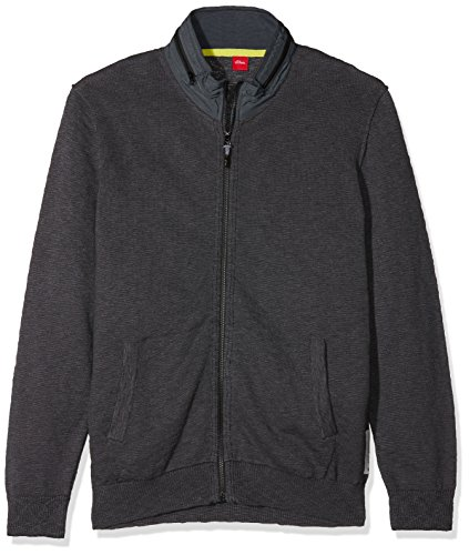 s.Oliver Big Size Herren Strickjacke 15 801 64 2818, Grau (Cold Grey Melange 95W0), XXXX-Large