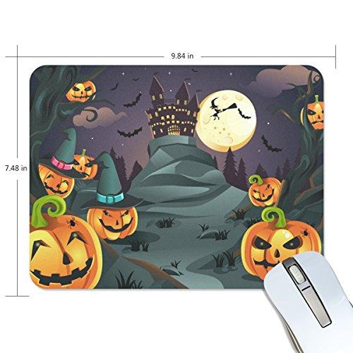 (COOSUN Halloween Kürbisse Hintergrund Mouse-Pads Anti-Rutsch-Gummi Rückfolie Gaming Mouse Pad Mat M Mehrfarbig)