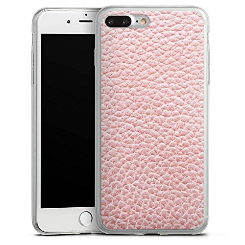 Apple iPhone X Slim Case Silikon Hülle Schutzhülle Leder Muster Struktur Silikon Slim Case transparent