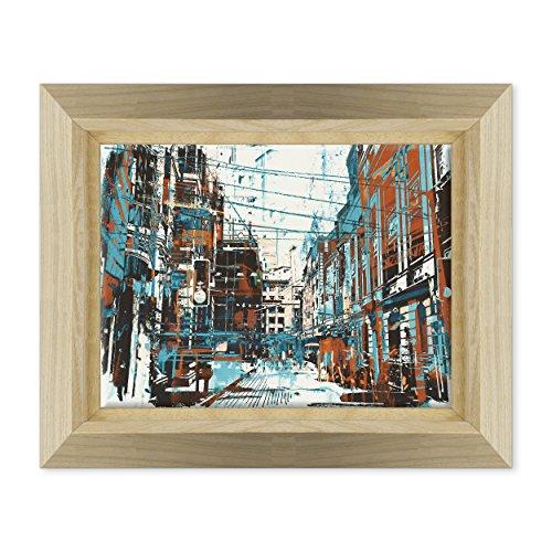 Bild auf Leinwand Canvas-Gerahmt-fertig zum Aufhängen-Urban Style-Graffiti Street Art Dimensione: 30x40cm E - Colore Legno Naturale Design