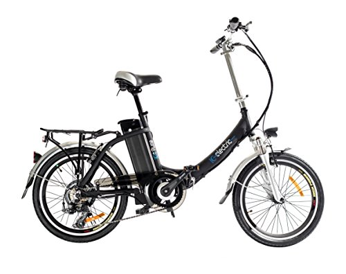 IC Electric Plume Bicicleta plegable, Unisex adulto, Negro, Única