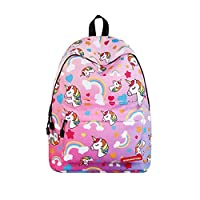 Warooma Kids Unicorn Backpack,Unisex Fashion Rucksack Lightweight Large Capacity Travel Camping Bags Casual Daypacks College schoolbag for Teens Students