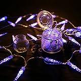 HG® 10M 40 LED Eiszapfen Eisregen Eiszapfen Weihnachtslichterkette Blau 31V Lichternetz Lichterkette sternenklar für Weihnachtsfest Hochzeit Schaufenster