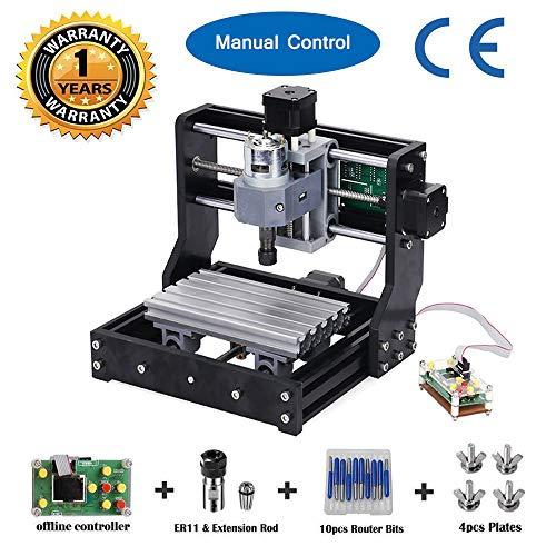 1610 Pro GRBL Steuerung DIY Mini CNC-Maschine, 3 Achsen PCB Fräsmaschine, Holz Router Stecher mit Offline-Controller, mit ER11 und 5mm Verlängerungsstange ()