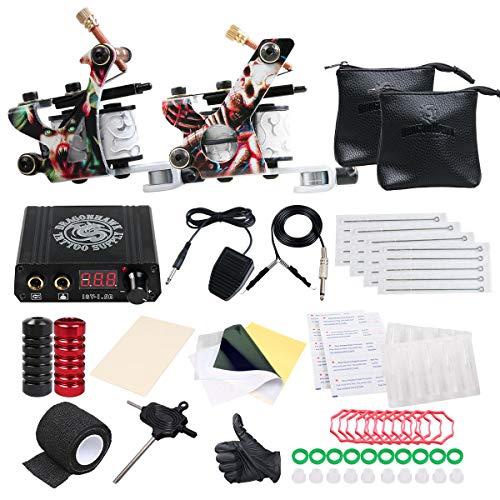 1549b00d5471 Dragonhawk Professional Great Beginner Tattoo Kit 2 Machine Guns Tattoo  Supply D53EUYMX