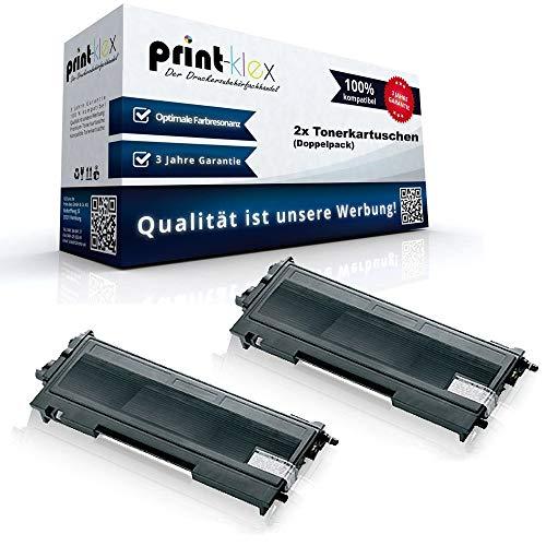 2x Alternative Tonerkartuschen für Brother MFC 7420 MFC 7420 N MFC 7820 MFC 7820 N TN 2000 XXL Doppelpack - Toner Easy Serie