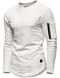 b7205600208bee Ombre-Eight Herren Oversize Sweatshirt Longline Pullover O-203