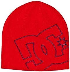 DC Kleidung Big Spin von Boy 's Beanie Hat Einheitsgröße Athletic red