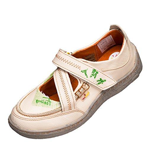 TMA Sandalette Ballerina 1655 Größe 36 - 42 . Neues Modell. Tma Schuhe Breiter Schnitt. Bequem mit dicker Sohle und perforiertem Fußbett. Leder. In den Farben Schwarz oder Cremeweiss Cremeweiss