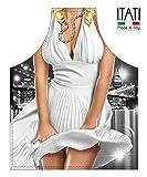 Delantal de Cocina Antimanchas Modelo Master Chef medidas 75 x 58 cm (Mujer, Marilyn)