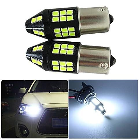 FEZZ Auto LED Ampoules S25 BA15S 1156 2835 40SMD 40W CANBUS DRL Feux de Jour