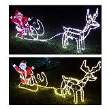 Santa auf Schlitten 24 cm Acryl mit Licht Wehnachtsdeko 506825 formano Rentier