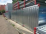 Container Baucontainer Schnellbaucontainer Lagercontainer Blechcontainer Materialcontainer 500cm x 220cm x 220cm extrem Stabil mit TÜV inkl. Boden - 4