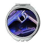 Yanteng Spiegel, Compact Mirror, Gewehrhalter, Round Mirror, HD-Pistole s P, Taschenspiegel, Tragbare Spiegel