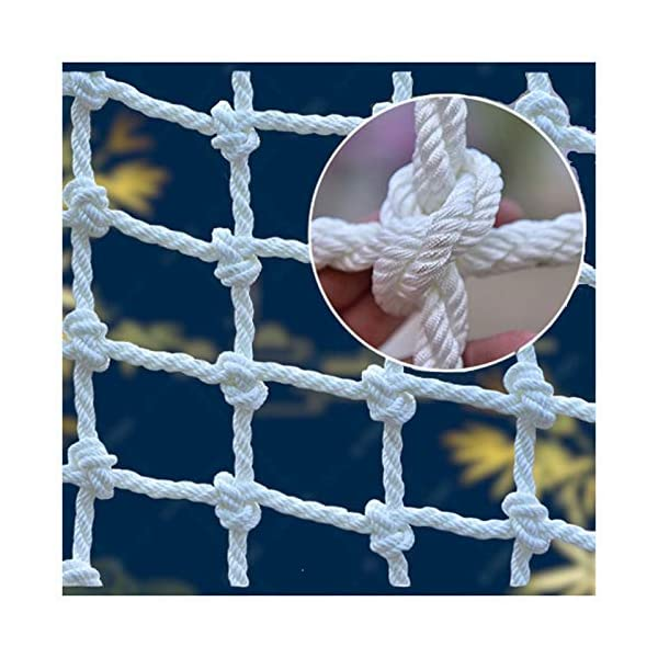 """Climbing Wall Netting,nylon Children Adult Playground Climbing Tree Rope Net Load Fixed,Cargo Rope Truck Deck Heavy Goods Nylon Nets Used for Amusement Park Railing Stair Safety Fence Decoration Net XXN ❤Auxiliary image display uses only scene reference,the main picture color is main.The safety net has a diameter of 14mm(0.55"""") and a mesh size of 12cm(4.72""""). The mesh edge is strengthened, the mesh is even, the pulling force is strong, the sunscreen, the weatherproof, the firm and the wearable. ❤The rope net is mainly used for climbing, not only for ordinary children and adults, but also for balconies, stairs, pets, children, gymnasiums, playgrounds, gardens, schools or sports clubs, and isolating truck cargo. It prevents objects from falling and ensures the safety of pets, children, etc. ❤Safety Tip: Regularly check the safety net for safety hazards caused by various external or human factors to protect safety. 1"""