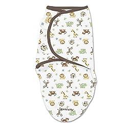 Summer Infant 72484 Swaddleme (Groß - ab 6 kg) Ganzkörper Pucksack Dschungel - 100% Baumwolle