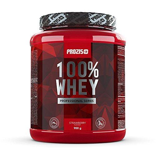Prozis 100% whey professional 900g - integratore al gusto vaniglia ricco di bcaa - sostiene la crescita muscolare ed il recupero - ideale per culturismo e senza sostanze dopanti - 36 dosi