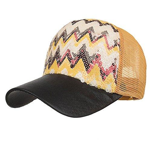 Hüte, Mode Einstellbare Bling Baseballmütze Wellenförmige Pailletten Mesh Cap Schatten Hip Hop Cap Sonnenhut (Schwarz) (Indiana Jones Kostüme Für Frauen)