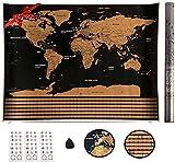 VEOMAPPY Mapa Mural para Rascar del Mundo 830*590mm - Rascar Island, País, las Ciudades que...