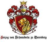 ★PRINZESSIN von Lichtenstein zu Sternberg +Wappen+Urkunde+Diplom+Adelstitel Adelsdiplom